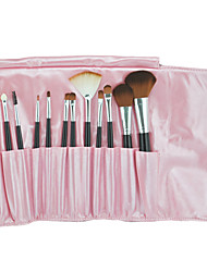 12PCS Professional Makeup Brush with Free Leather Pouch(Random Colors)