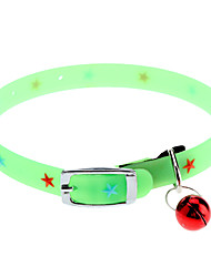 Fluorescent Star Pattern Collar for Cats and Dogs