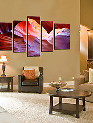 Stretched Canvas Art Abstract Sight Set of 5