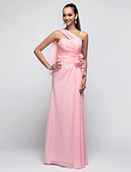 TS Couture® Prom / Formal Evening / Military Ball Dress - Open Back Plus Size / Petite Sheath / Column One Shoulder Floor-length Chiffon