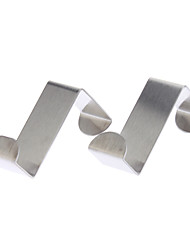 L-Shaped Stainless Steel Door Hook Max Load 3kg (2pcs)