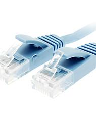 Cat 6 Stecker auf Stecker Netzwerkkabel Wohnung Typ Blau (5M)