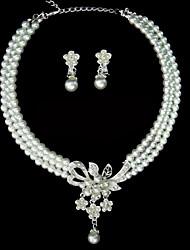 Aleación elegante con las perlas Rhinestone señoras Conjuntos