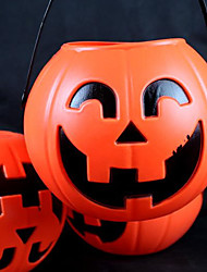 18cm PVC Halloween Pumpkin Light with Electric Candle