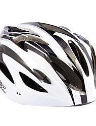 ST011 EPS material regulável Road Bike MTB Capacete de Ciclismo - Tamanho 59 centímetros, 63 centímetros, 18 Vents (branco)