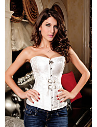 Polyester Strapless Pteris Jacquard Front Busk Closure Corset Shapewear(More Colors) Sexy Lingerie Shaper