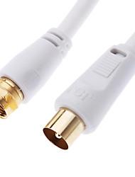 jsj® 10m 32.8ft coaxial à f type mâle à la TV câble coaxial mâle blanc pour CCTV