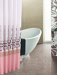 Continental Pink gruesa de poliéster impermeable cortina de ducha