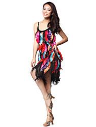 Performance Polyester Vêtements avec des glands robe de danse latine pour les dames
