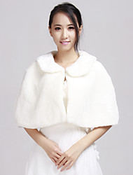 Wedding / Party/Evening / Office & Career / Casual Faux Fur Ponchos Sleeveless Fur Wraps