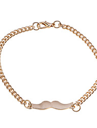 Lureme®Alloy Mustache Charm Bracelet(Assorted Color)