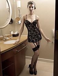Women Babydoll & Slips/Gartered Lingerie/Lace Lingerie Nightwear , Acrylic/Spandex