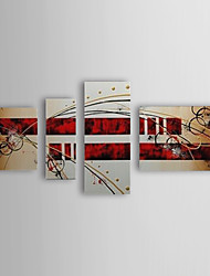 Hand Painted Oil Painting Abstract With Stretched Frame Set of 4 1308-AB0548