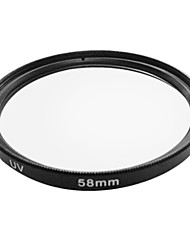 neutrale uv-filter 58mm lens