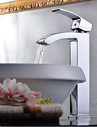 Contemporain Vasque Cascade with  Valve en céramique Mitigeur un trou for  Chrome , Robinet lavabo