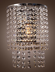 Contemporary Crystal Wall Light with 1 Light
