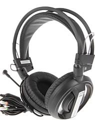 кобра электронной 3LU наушников 3,5 мм над ухом качественной профессиональной игр с микрофоном для телефонов (черный)