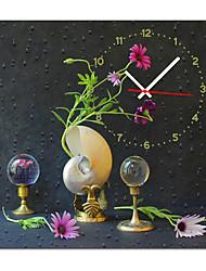 """12 """"-24"""" elegante orologio da parete floreale in tela"""