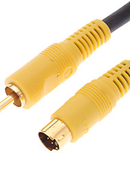 JSJ® 3M 9.84FT S-Video Male to RCA Male Cable Black for Home Theater Video DVD
