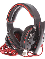 Sades sa-903 usb casque sur l'oreille jeu avec micro et télécommande pour PC 7.1 effet sonore sur l'oreille