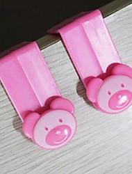 Cute Bear Design Plastic Over-The-Carbint Hook/Garbage Bag Hook
