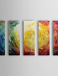 Hand-Painted Abstract 100% Hang-Painted Oil Painting,Modern Five Panels Canvas Oil Painting For Home Decoration