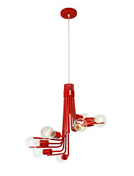 North American-Style Modern Characteristic 8 Light Pendant In Red