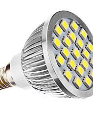3W E14 Spot LED MR16 21 SMD 5050 240 lm Blanc Naturel AC 100-240 / AC 110-130 V