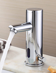 Bathroom Sink Faucet  Contemporary Design Chrome Finish Brass with Automatic Sensor faucet (Hot and Cold)