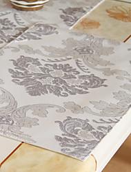 Conjunto de 4 prata Tópico Floral Placemats Padrão