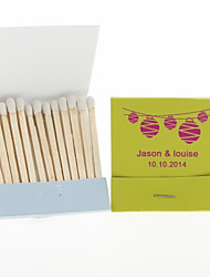 Wedding Décor Personalized Matchbooks Lanterns-Set of 12 (More Colors)