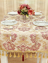 European Style Red and Golden Floral Table Cloth
