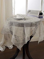 "33"" Square Traditional Beige Floral Table Cloths"