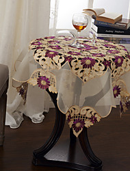 Green / Purple Polyester Square Table Cloths