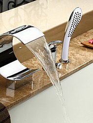 Sprinkle® Tub Faucets  ,  Contemporary  with  Chrome Single Handle Three Holes  ,  Feature  for Waterfall / Widespread