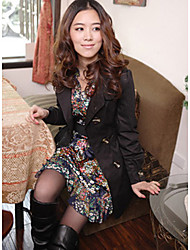 Women's Elegant Bow Pocket Trench Coat