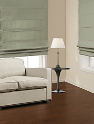 Natural Light Green Cotton Roman Shade