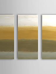 Peint à la main Peinture à l'huile abstraite avec cadre étiré Ensemble de 3 1308-AB0728