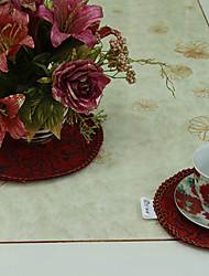 Conjunto de 4 chineses Estilo Vermelho Poliéster Coasters