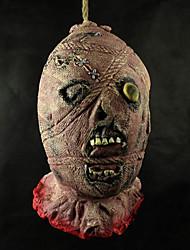 Grauenhafte Halloween Latex Geist-Kopf mit einem Hanfseil