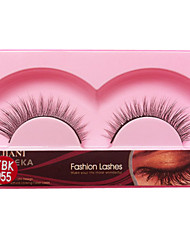 1 Pairs European Black High-class Fiber  False Eyelashes JN 055