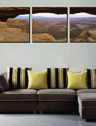 Stretched Canvas Art Landscape Mountain Sight Set of 3