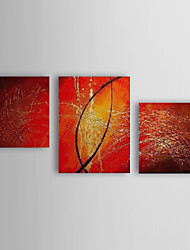Hand Painted Oil Painting Abstract With Stretched Frame Set of 3 1308-AB0546