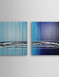 Hand Painted Oil Painting Abstract with Stretched Frame Set of 2 1308-AB0592