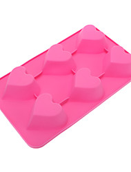 Sweet Heart Shaped Silicone Cake Cookie Mould Random Color
