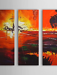 Hand-Painted Abstract / Abstract Landscape Three Panels Canvas Oil Painting For Home Decoration