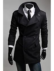 grande collare bavero del cappotto tasca unica degli uomini
