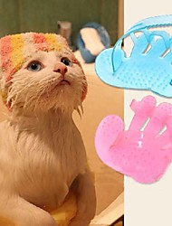Cat / Dog Grooming Brush Pet Grooming Supplies Blue / Pink Rubber
