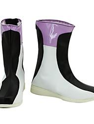 Mobile Suit Механика Воин Белая и Черная Кожа PU плоские ботинки