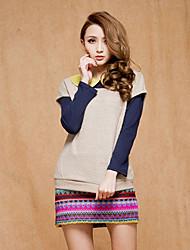 Women's Dress , Knitwear/Acrylic Multi-color Casual